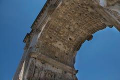 The Arch of Titus Arco di Tito at Roman Forum in Rome. Italy Stock Photo