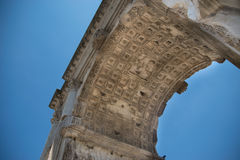 The Arch of Titus Arco di Tito at Roman Forum in Rome. Italy Stock Photography