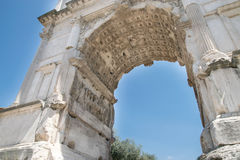 The Arch of Titus Arco di Tito at Roman Forum in Rome. Italy Royalty Free Stock Photo