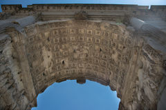 The Arch of Titus Arco di Tito at Roman Forum in Rome. Italy Royalty Free Stock Photography