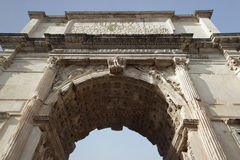 Arch of Titus detail, Rome Royalty Free Stock Photography