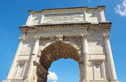 The Arch of Titus at Forum Roman, Rome, Italy Royalty Free Stock Photo