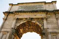The Arch of Titus at Forum Roman Stock Image