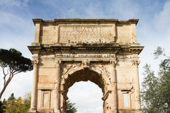 Arch of Titus at the Forum Romanum Royalty Free Stock Photos