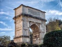 Arch of Titus, Forum Romanum, Rome, Italy Stock Photography