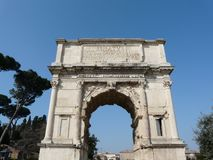 Arch of Titus at the Roman Forum in Rome, Italy Stock Images