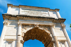 The Arch of Titus in Roman Forum, Rome Stock Photo