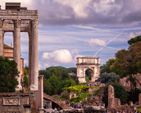 The Arch of Titus in Roman Forum, Rome, Italy Stock Images