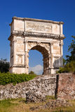 Arch of Titus on Roman Forum in Rome, Italy Stock Images