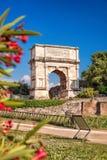Arch of Titus on Roman Forum in Rome, Italy Stock Photos