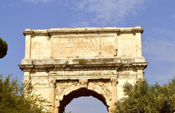 Arch of Titus in Rome Royalty Free Stock Images