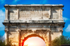 The Arch of Titus, Rome Royalty Free Stock Images