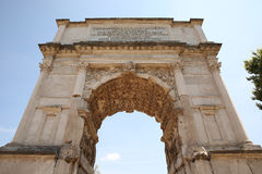The Arch of Titus, Rome. Italy Stock Photo
