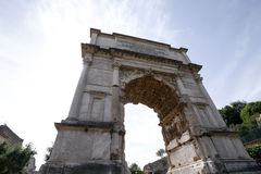 Arch of Titus in Rome, Italy Royalty Free Stock Photo