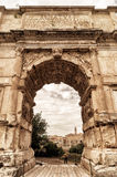The Arch of Titus in Rome Stock Photos