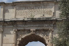 Arch of Titus, Rome Stock Photo