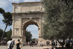 Arch of Titus, Rome Royalty Free Stock Photo