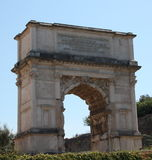 Arch of Titus in Rome Stock Photo