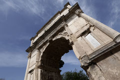 Arch of Titus in Rome Stock Photography