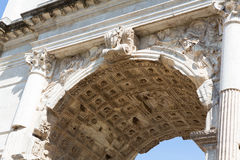 Arch of Titus Up Close Stock Photo