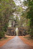 Arch to the ancient city of Angkor Stock Image