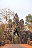 Arch to the ancient city of Angkor Royalty Free Stock Images