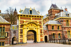 Arch to Binnenhof palace, place of dutch parliament in Hague, Holland Royalty Free Stock Photos