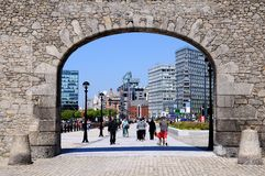 Arch to Salthouse Dock, Liverpool. Stock Photo