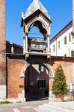 Arch with tomb in church sant anastasia in Verona. VERONA, ITALY - MARCH 27, 2017: Arch with tomb Arca di Guglielmo da Castelbarco in Basilica di Sant Anastasia Stock Image