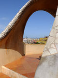 The arch on the top of Casa Mila La Pedrera in Barcelona Stock Images