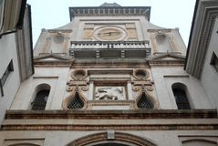 Arch Torrazzo in the historic center of Crema in the province of Cremona in Lombardy (Italy) Stock Image