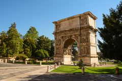 Arch of Trajan in Benevento Italy Royalty Free Stock Photography