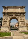 Arch of Trajan in Benevento in the region of Campania stock photography
