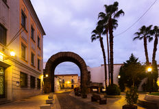 Arch of Trajan of Merida in dawn Royalty Free Stock Photo
