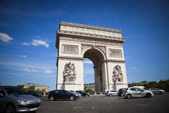Arch of Triomphe of Paris Royalty Free Stock Image