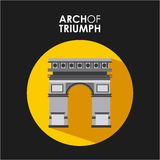 arch triumf Ilustracji