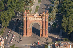 Triumphal Arch of Barcelona Stock Image