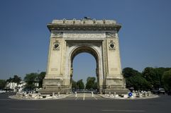 Arch of Triumph. Bucharest  Romania Stock Image