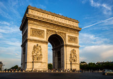 Arch of Triumph (Arc de Triomphe) with dramatic sky Royalty Free Stock Images