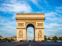 Arch of Triumph (Arc de Triomphe) with dramatic sky Royalty Free Stock Photography