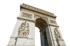 Arc de Triomphe. Arch of triumph. Arc de Triomphe at the western end of the Champs Elysees road at center of Place Charles de Gaulle in Paris city of France stock photography
