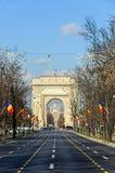 The Arch of Triumph Arcul de Triumf from Bucharest Romania Stock Images