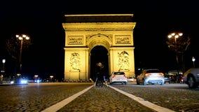 Arch of Triumph, Avenue des Champs-Elysees, Paris, stock footage