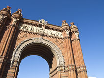 Arch of triumph, Barcelona Royalty Free Stock Image