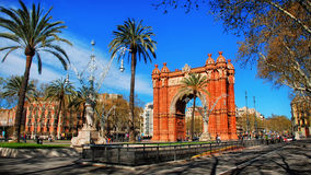 Arch of Triumph in Barcelona Royalty Free Stock Images