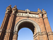 Arch of triumph, Barcelona Royalty Free Stock Photo