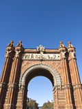 Arch of triumph, Barcelona. Spain Stock Images