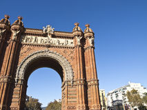 Arch of triumph, Barcelona. Spain Royalty Free Stock Images