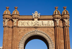 Arch of Triumph in Barcelona, Spain. Stock Photography