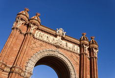 Arch of Triumph in Barcelona, Spain. Royalty Free Stock Images